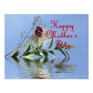 Happy Mothers Day Rosy Reflection Print