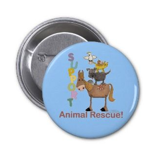 Support Animal Rescue Pins