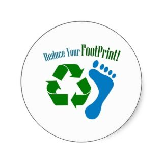 Reduce Your Footprint Sticker