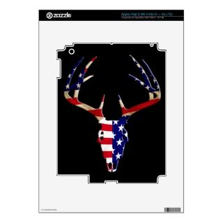 Patriotic Deer Skull Skin For iPad 3