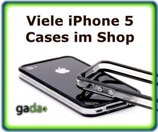 IPHONE 5 BUMPER HARDCASE CASE TASCHE COVER HÜLLE SCHUTZHÜLLE SCHWARZ