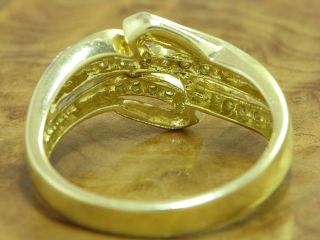 14kt 585 GOLD GELBGOLD RING MIT 0,54ct. BRILLANT BESATZ BRILLANTRING