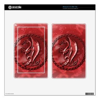 Red Celtic Dragon Skins For Kindle Fire