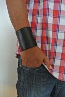 Lederarmband Gay leather wristband bracelets cuir nero 224