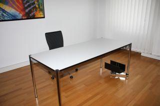 Original USM Haller Schreibtisch 175x75 cm Tisch weiß neuwertig