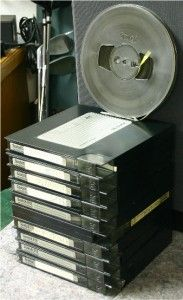 10 SCOTCH 212 213 7 INCH REEL TAPES IN HARDSHELL CASES