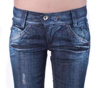 Miss Sixty Damen Jeans Hose Karen Blau 8C Gr. 25/34; 26/34 #23