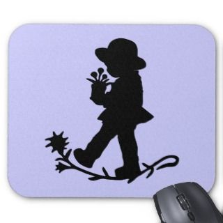 The little girl and the flower pot mouse pads
