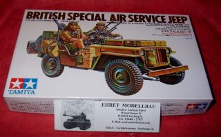 WWII British Special Air Service Jeep 135 Tamiya Neu