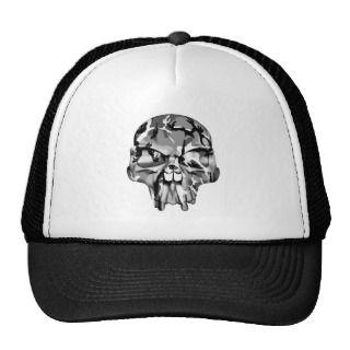 Camo Half Skull Hat