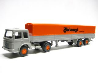 Wiking 517 4 MAN 19.230 Pritschen SZG Zünd Transport 1