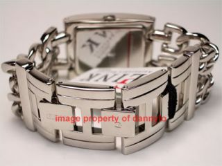 NEW ORIGINAL GUESS SILVER DOUBLE CHAIN BRACELET WATCH G75916L NEW IN