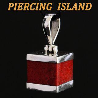 925er Silber Kettenanhänger Anhänger Rote Koralle Red Coral Silver