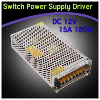 12V 15A 180W Switch Power Supply Driver For LED Light Strip Display