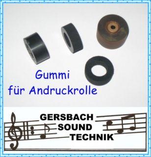 Andruckrolle Gummi Pinch Roller Grundig TK 222 HiFi