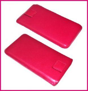 Echt Leder Handy Etui in Pink Für LG P990 Optimus Speed Tasche Case