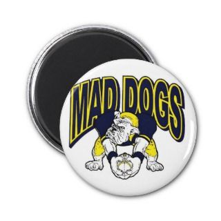 MAD DOGS FOOTBALL FAN GEAR REFRIGERATOR MAGNETS