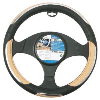 Beige Snake Car Steering Wheel Cover Universal Fit
