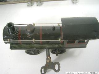Märklin uralt Dampflok mit Tender,1040,Uhrwerk,Spur 0,Bastler