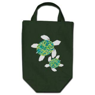 Mosaic Sea Turtles Dark Bags
