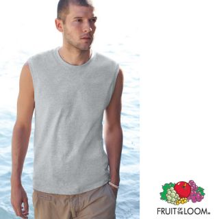 Tank Top Shirt Fruit of the Loom Ärmellos Sleeveless