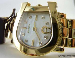 AIGNER Damen Uhr GENUA DUE GOLD NEU UVP* 489 € A31632