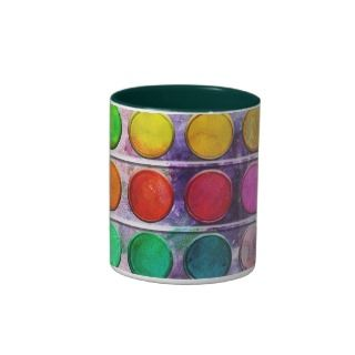 Fine Art Fun Colorful Paint Color Box Mugs