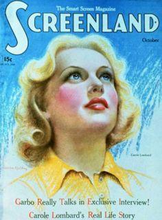 Carole Lombard   Screenland Magazine Cover 1920s Masterprint