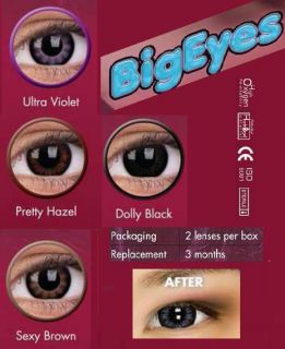 Crazy Kontaktlinsen Stärke Power lentille contact lens Dolly Black