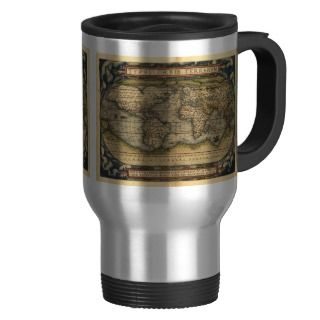 Vintage World Map Atlas Historical Design Mugs