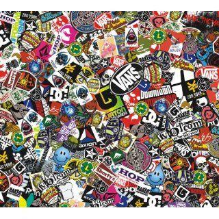 Sticker Bomb Comic Folie mit Echtem Logos 152x30cm Snowboard Aufkleber