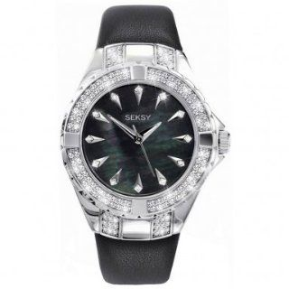 Sesky INTENSE Ladies Watch Father Of Pearl Dial Black Strap   4431