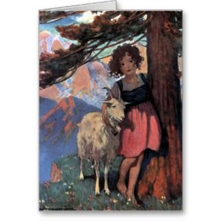 Heidi by Jessie Wilcox Smith Greeting Cards