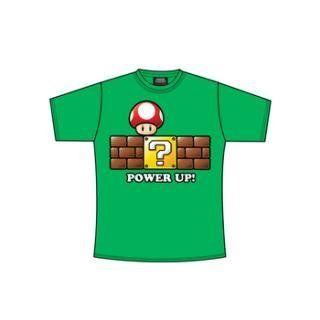 Super Mario T Shirt Grüner Power Up Spielzeug