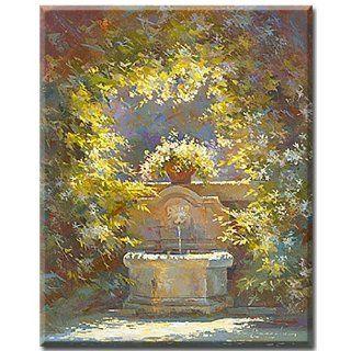Digitaldruck (Giclee) auf Leinwand gedruckt, romantisches Gartenbild