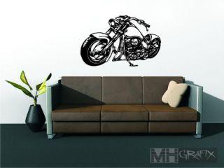 Wandtattoo Motorrad Wandtatoo Harley 75 cm Wandbild