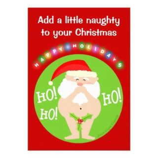 Custom Naughty Santa Christmas Party Invitation