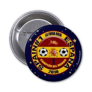 Campeón del mundo España futbol 2010 Buttons