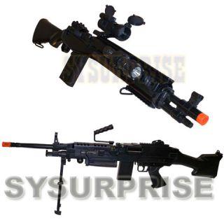 2x M249 SAW & M14 SOCOM Sniper Rifle Airsoft Spring Gun