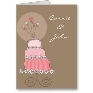 Wedding Cake Invitation / Announcement Greeting Card
