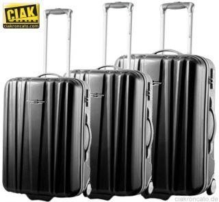 CIAK RONCATO (M) Reisekoffer, Schwarz/Silber/Grün/Blau, Reise Trolley
