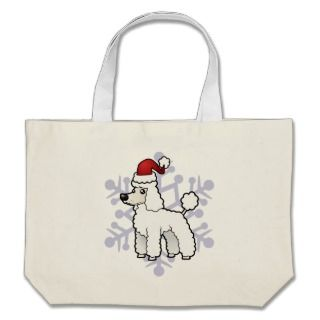 Christmas Standard/Miniature/Toy Poodle puppy cut Canvas Bag