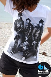 shirt RUN DMC hip hop VINTAGE coupe H/F dispo S M L