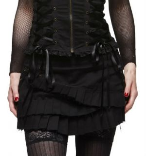 Steampunk Mini Skirt Spin Doctor Pleated Gothic Bondage Ruffle