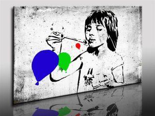 Bild auf Leinwand Graffiti Banksy Street Art Kunstdrucke Wandbilder k