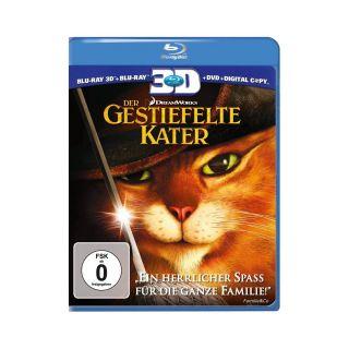 Der Gestiefelte Kater (+ Blu ray + DVD + Digital Copy) Blu ray 3D NEU