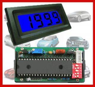 2V 2000V DC Blue LCD Digital Solar Panel Voltmeter Power 6 15V