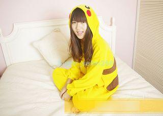NEW POKEMON COSTUME PIKACHU KIGURUMI JAPAN PAJAMAS YELLOW