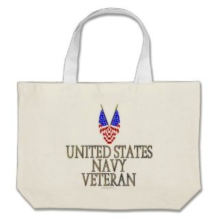 United States Navy Veteran Tote Bag