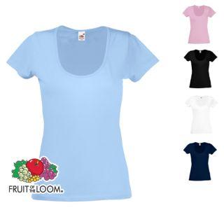 Damen Shirt Light T Shirt Fruit of the Loom XS   XL